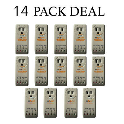 14 Pack New Refrigerator 1800 Watts Voltage Brownout Appliance Surge Protector