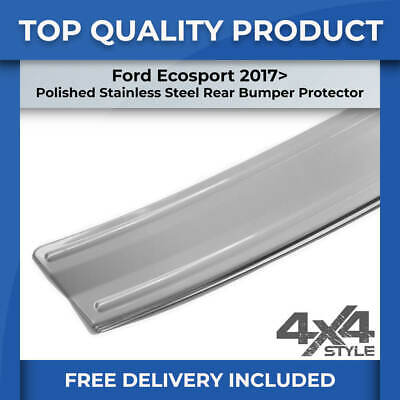 FORD ECOSPORT 17> POLISHED STAINLESS STEEL REAR BUMPER SILL COVER PROTECTOR TRIM