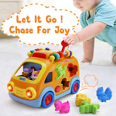 Electronic Musical Bus, gifts for 1,2 Year Olds Girls Boys Gift Baby Sensory Toy](Gifts For 2 Year Olds)