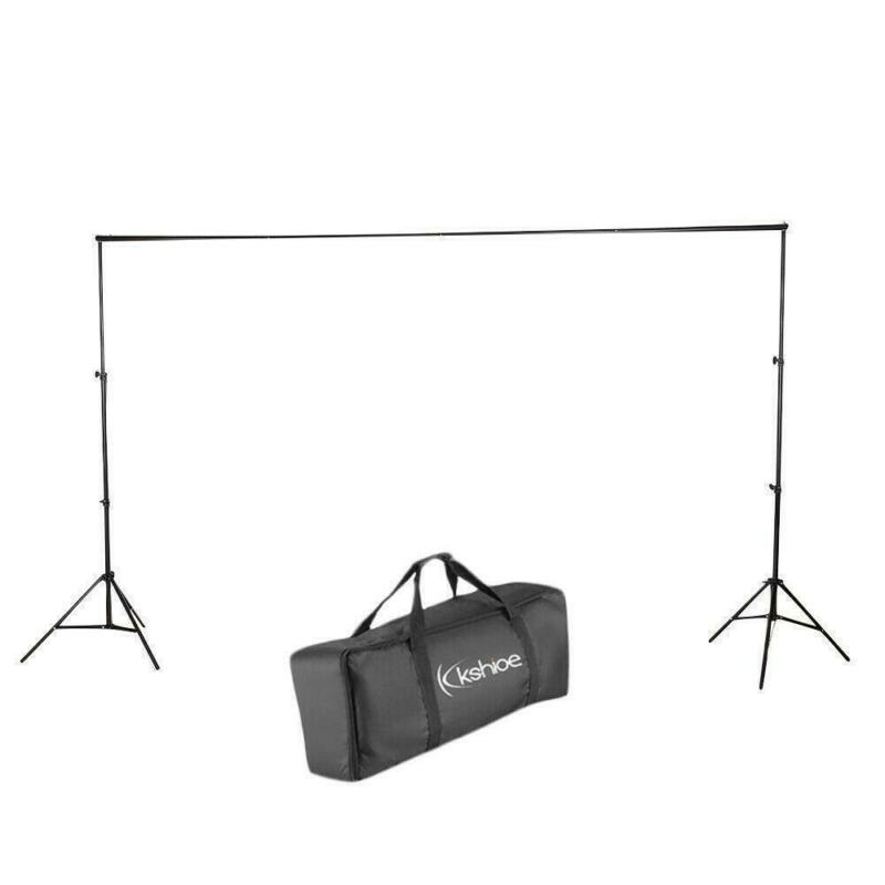 Photography Photo Background Backdrop Support Stand Kit 2*3m/6.5*10ft Black