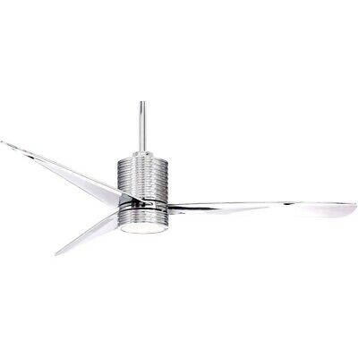 Mojave - 56 Ceiling Fan with Light Kit  Chrome Finish with Chrome Chrome Finish Ceiling Fans