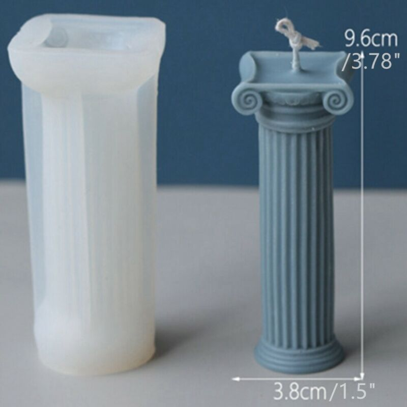 DIY Roman Column Silicone Candle Plaster Handmade Chocolates Making Mold Mould