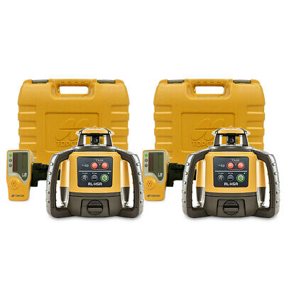 Topcon Rl-h5a Self-leveling Construction Rotary Grade Laser Level 2-pack