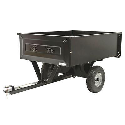 10 cu. ft. Steel Dump Cart Garden Yard Lawn Mower Tractor Trailer Attachement