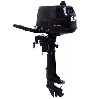 6 HP 2 Stroke Outboard Motor Tiller Shaft Boat Engine with Water Cooling System