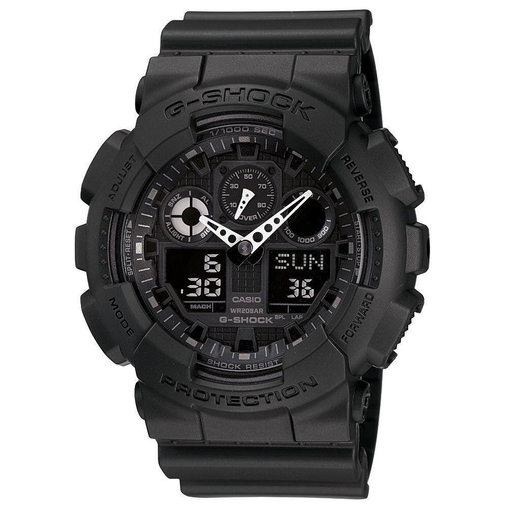 Mens Watches - Crazy Deal New Casio G-Shock GA100-1A1 Ana-Digi Multifunction Mens Watch