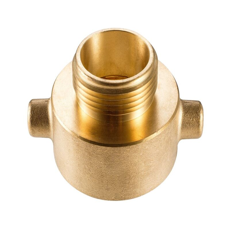 """Brass 2 1/2"""" Female NH/NST to 1 1/2"""" Male NH/NST Fire Hydrant Adapter"""