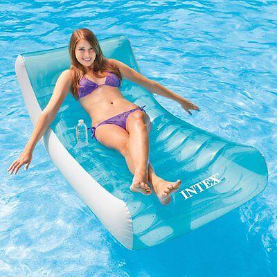 Intex Inflatable Rockin' Lounge Swimming Float Lounger Beach Lilo Pool Mat