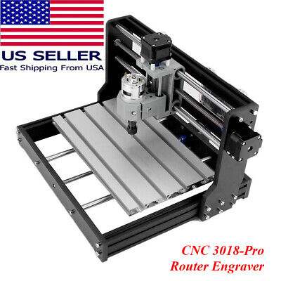 Us Ship Cnc 3018 Pro Diy Mini 3 Axis Milling Cutter Machine Wood Router Engraver
