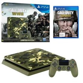 PS4 Slim 1TB Limited edition + Extra controller + 2 games
