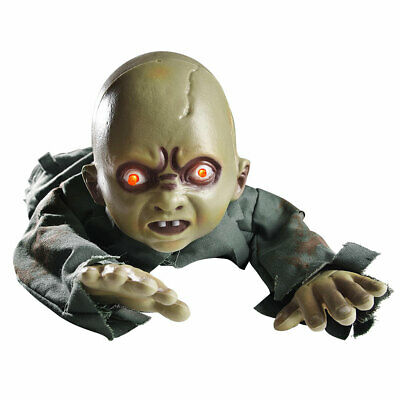 Halloween Decorations Animated Props (Scary Animated Crawling Baby Halloween Prop Zombie Ghost Baby Doll Haunted)