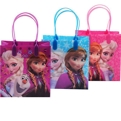 Frozen Bags Disney (12PCS Disney Frozen Authentic Goodie Party Favor Gift Birthday Loot Bags)