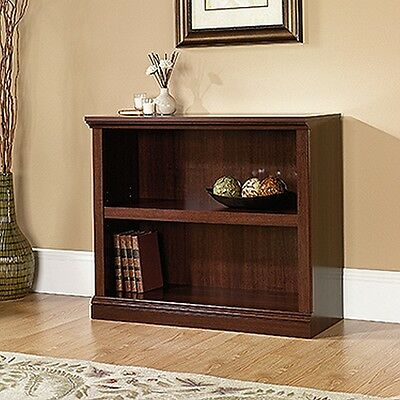 Sauder 414238 2 Shelf Bookcase Select Cherry Finish NEW