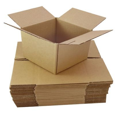 5 Small Cardboard Boxes Cubes Size 4x4x4