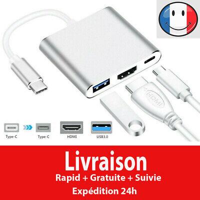 Type C vers HDMI USB 3.0 USB-C Câble adaptateur 3 in 1...