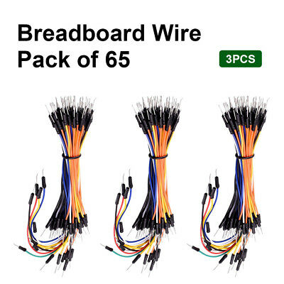 3 X 65pcs Connector Breadboard Dupont Wire Jumper Cable Diy Kit Set For Arduino
