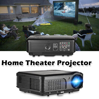 CAIWEI A6 Home Theater Projector 5000 LUMENS LCD HD Movie Party Camping HDMI USB