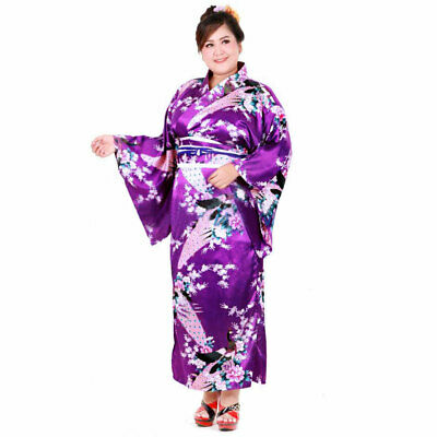 Plus Size Japan Geisha Yukata Cosplay Kimono Kleid - Plussize Kostüme