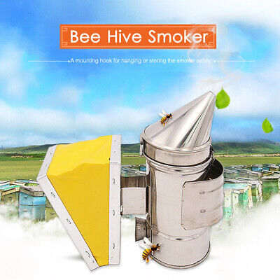 Bee Hive Smoker Bee Keeper Smoker Heat Chamber Bellow Beekeeping Equipment