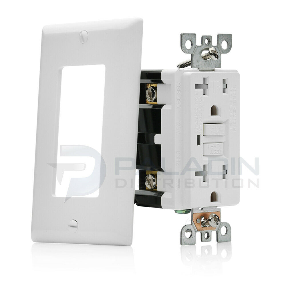 15A / 20A GFCI Safety Outlet Receptacle Tamper & Weather Resistant - White UL 1