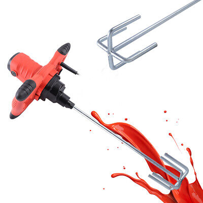 New Electric Mortar Mixer 1200w Dual High Low Gear 6 Speed Paint Cement Grout