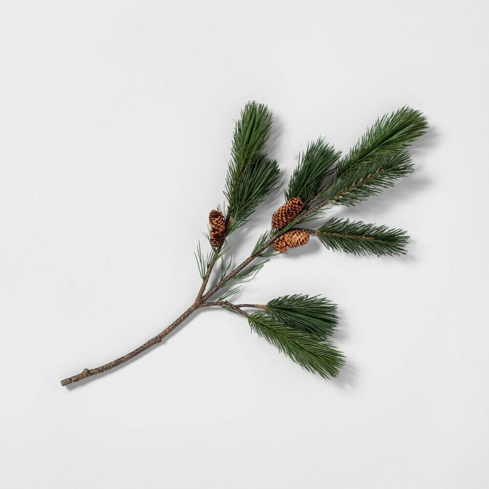 New 27″ Faux Pine Stem with Pinecone – Hearth & Hand with Magnolia Lot of 5 Holiday & Seasonal Décor