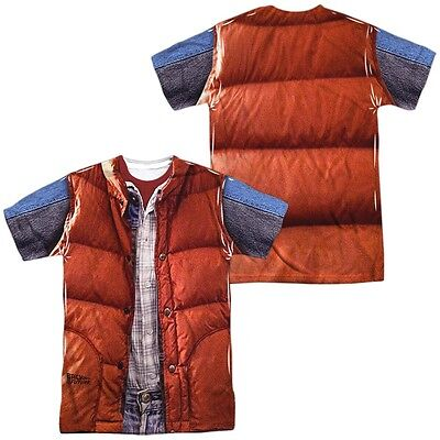 Back to the Future Movie Marty McFly Vest Costume Outfit Uniform Allover T-shirt](Marty Mcfly Outfit)