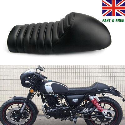 MOTORCYCLE CAFE RACER SEAT BLACK HUMP VINTAGE SADDLE FOR HONDA CB SUZU