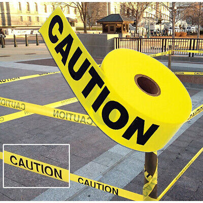 100m Barricade Caution Tape Warning Tape Construction Public Works Safety