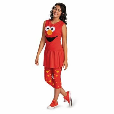 Elmo Costume Girl (Sesame Street Classic Elmo Halloween Costume Fancy Dress Girls Tween Teen)