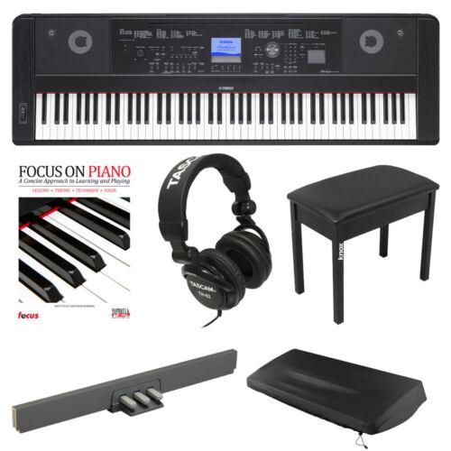 Yamaha DGX660B Piano w/ LP7A Pedal, Knox Bench, Headphones,