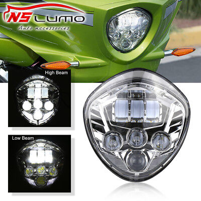 Chrome LED Motorcycle Headlight For Victory Cross Country Kingpin Vegas Hammer