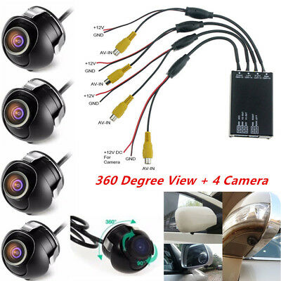 Car Parking Panoramic View Rearview 4 Way Camera Control Box System 360 Degree for sale  Shipping to Canada