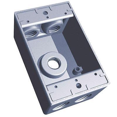 New  S107e 5 Hole 3 4  Rect Box Silver  Part S107e  Thomas  Amp  Betts