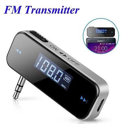 Mini LCD Display FM Transmitter 3.5mm Music Audio Car Mobile Phones Wireless  Wireless Mobile Fm-transmitter