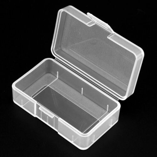 Mini Transparent PP Battery Storage Box Case Holder for 1 Piece 9V Battery YG