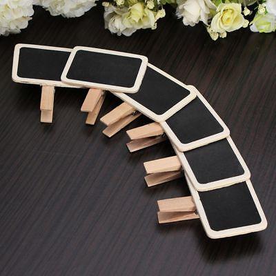 Mini Holder Crafts Labels Wooden Rectangle Clip Chalkboard - Chalkboard Crafts