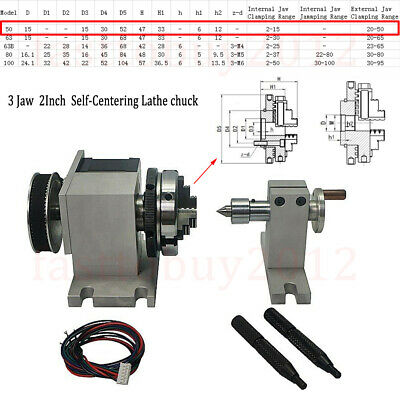 Rotary Axis 4th-axis Cnc Router Rotational A-axis 3 Jaw For Cnc Milling Machine