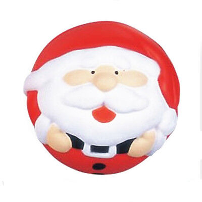 1PC PU Santa Claus Stress Balls Toy Pressure Relief Squeeze Childrens Xmas - Halloween Stress Balls