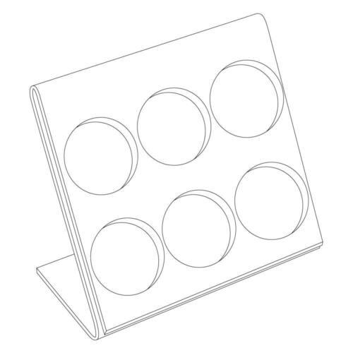Clear Acrylic Jewelry Gem Jar Bead Holder Organizer Stand Display ~ Holds 6 Jars