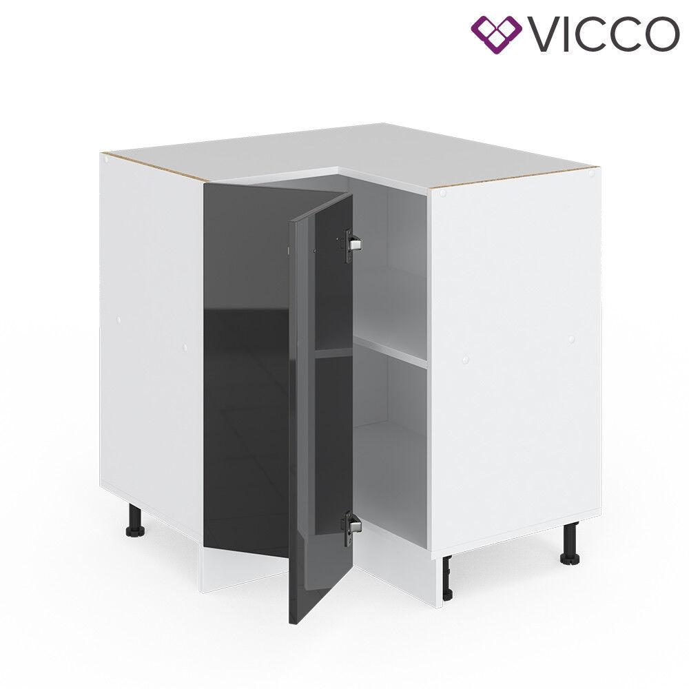 VICCO Küchenschrank Hängeschrank Unterschrank Küchenzeile R-Line Eckunterschrank 87 cm anthrazit