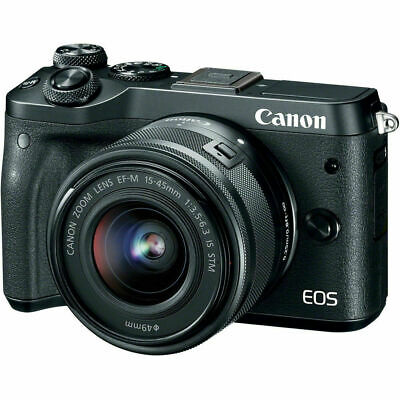 Canon EOS M6 Mirrorless Digital Camera with EF-M 15-45mm f/3.5-6.3 IS STM Lens