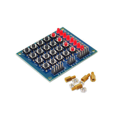 Keyes 4x4 Matrix Array Keyboard 16 Key Switch Keypad Module 8 Leds For Arduino
