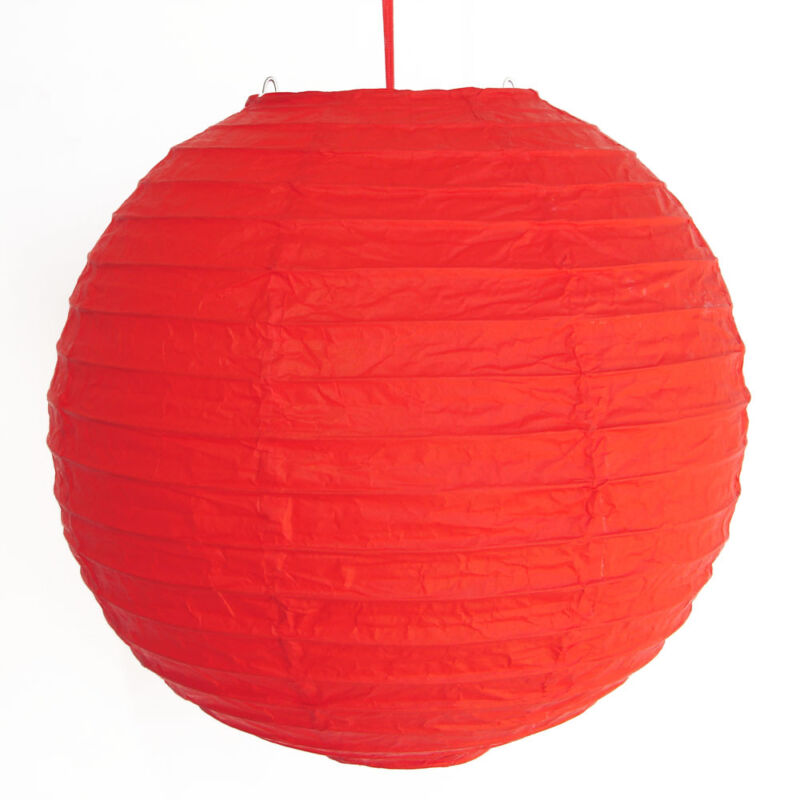 """2 of 12"""" Chinese Red Paper Lanterns"""