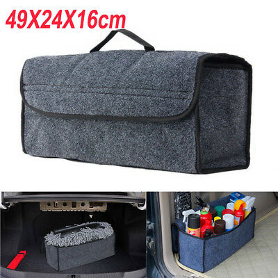 Car Boot Grey Tidy Case Bag Tools Travel Shopping Accessories Storage Organizer
