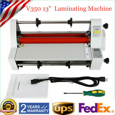 V350 Hot Cold Roll Laminator 13 350mm Electric Four Roller Laminating Machine