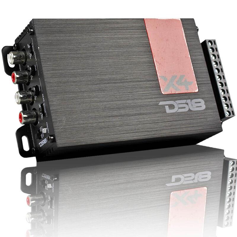DS18 X4 Ultra Compact 4 Channel Amplifier Class D Car Audio Precision Quality