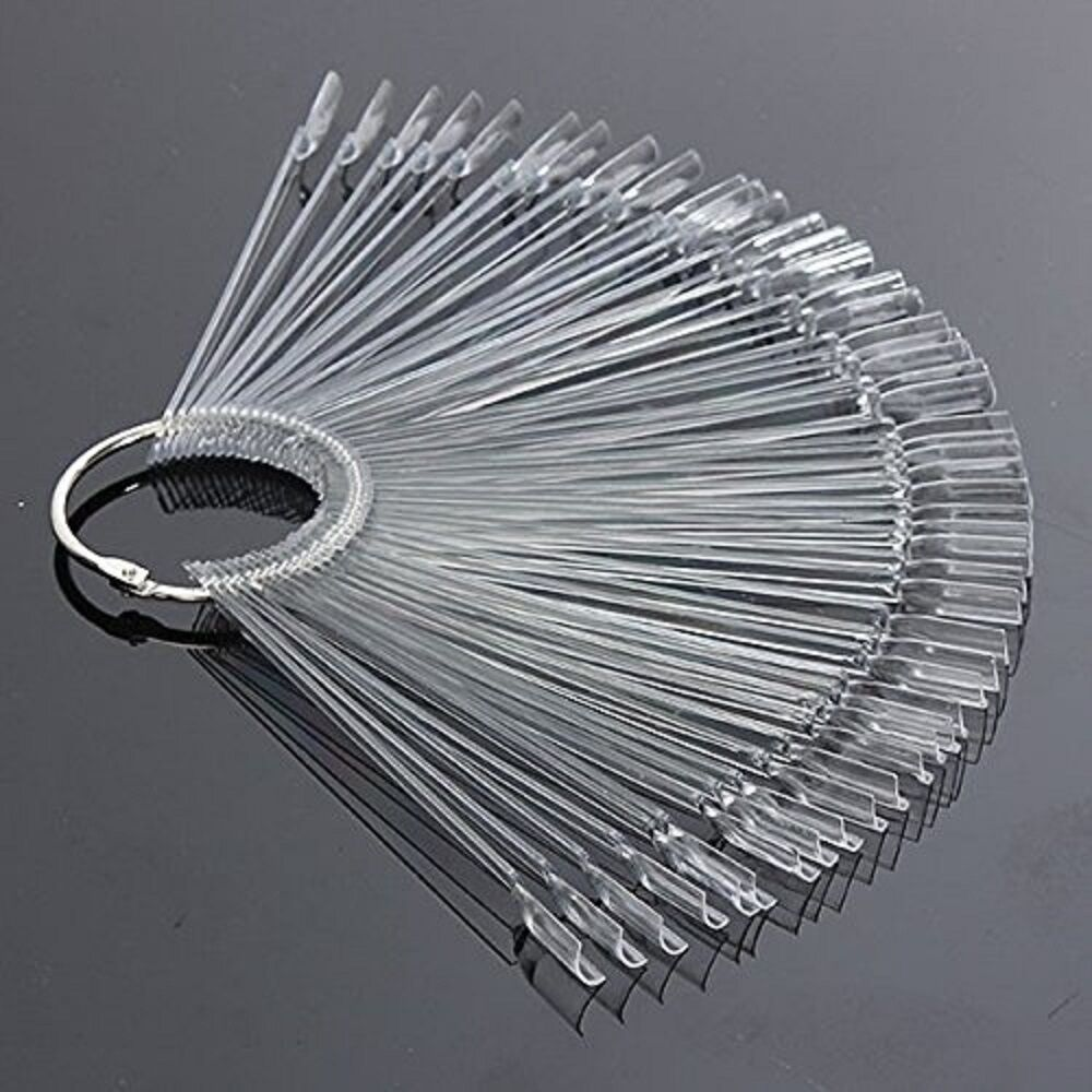 50Pcs Nail Art False Tips Sticks Polish Practice Display Fan Board Design Tools Health & Beauty