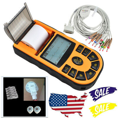 Handheld 1-channel 12-lead Ecgekg Machine Electrocardiograph Software Analysis