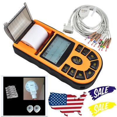 Handheld 1-channel 12-lead Ecgekg Machine Electrocardiograph Software Analysis